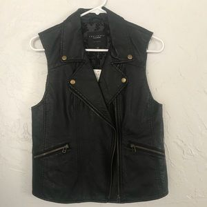 Anthropologie vegan leather vest